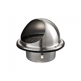 Stainless Steel Round Air Vent Grill 100 mm 4'' Pour Extractor - Bull Nosed