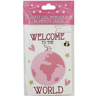 30 Baby Girl minneverdige Moments Cards søte barn keepsakes