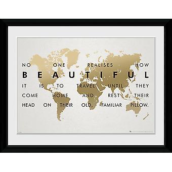 Travel Travel indrammet Collector Print 40x30cm