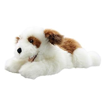 Hand Puppet - Playful Puppies - Dog (Brown & White) Soft Doll PC003008