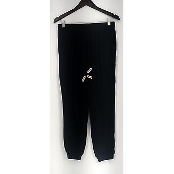 Anybody SP Brushed Hacci Pull On Jogger Lounge Pants Black A293526