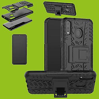 Für Huawei Y5 2019 Hybrid Case 2teilig Outdoor Schwarz Tasche Hülle Cover Schutz