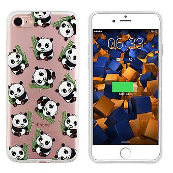 Backcover TPU + PC voor Apple iPhone 6 - 6S Panda Transparant