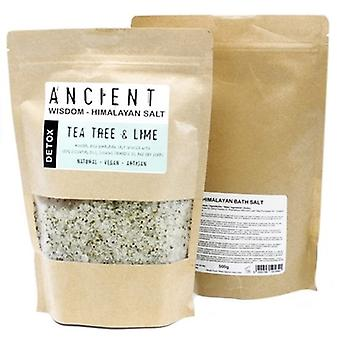 Himalayan Bath Salts Detox Blend With Tea Tree & Lime 500g