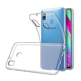 Stoff zertifiziert® Transparent Clear Case Cover Silikon TPU Fall Samsung Galaxy A40