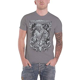 Apocalyptica T Shirt Stringsreaper Band Logo new Official Mens Charcoal Grey