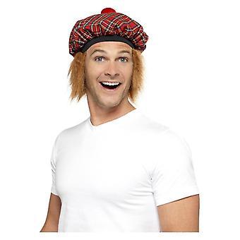 Mens Tam-O-Shanter Tartan Hat costume accessorio