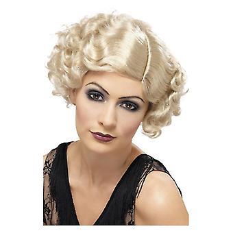 Womens 20s Blonde flørtende Flapper parykk Fancy kjole tilbehør