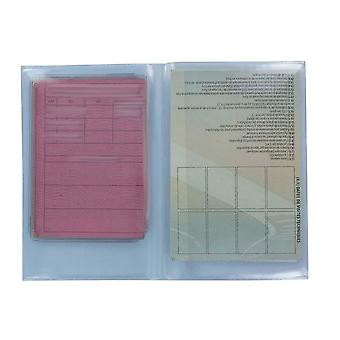 Lotto 05/02/10/25/50/100 Permesso di protezione trasparente impostato per guidare la carta grigia
