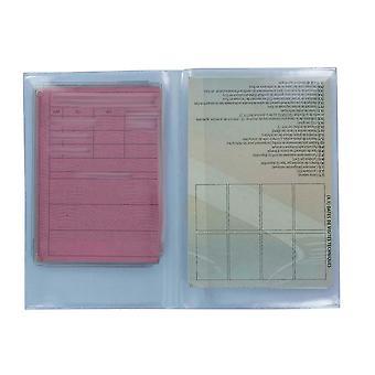Lot 2/5/10/25/50/100 Etui Transparent Protection Permis De Conduire Carte Grise