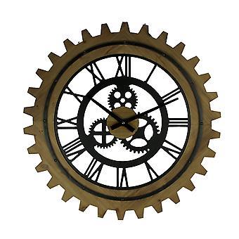 Деревянные и металлические вырезковые колеса и Gears Стены Часы