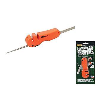 Akkusharp 4-in-1 veitsi & työkalu teroitin, Blaze oranssi, tasku koko #028C