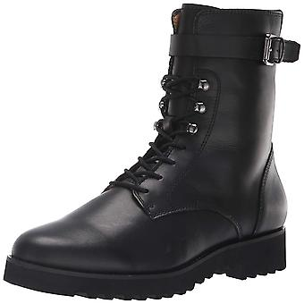 Franco Sarto Womens Canon2 Fabric Closed Toe Ankle Combat Boots