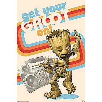 Guardians Of The Galaxy Get Your Groot On Poster