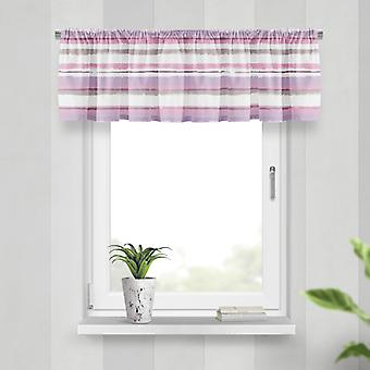 Meesoz Valance - Painted Stripes Pink