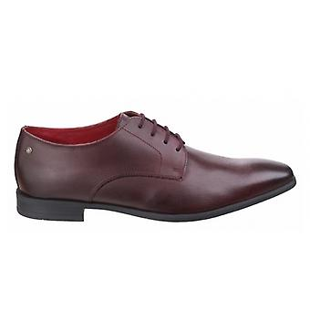 Base London Shilling Mens Leather Derby Shoes Waxy Bordo