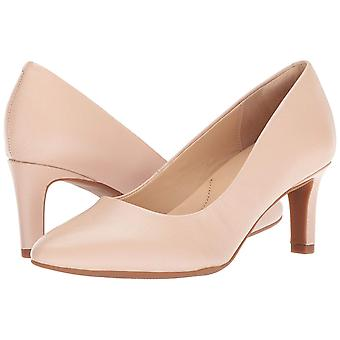 Clarks Womens calla rose Leather Pointed Toe Classic Pumps