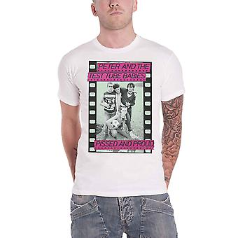 Peter & The Test Tube Babies T Shirt Pissed And Proud new Official Mens White
