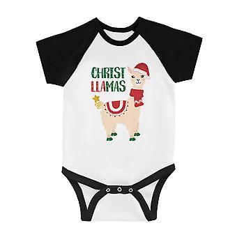 Christ Lamas süße BKWT Baby Baseball Body X-mas vorhanden