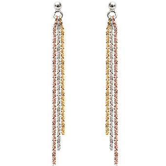 Clio Blue BO1462BDR - multichannel Dor earrings earrings are silver woman