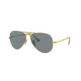 Ray-Ban RB3689 9064S2 Skinnende guld/Polariserede blå-AR Blå Solbriller