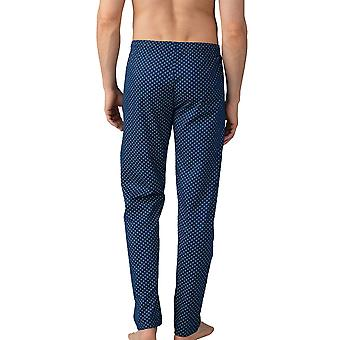 Mey Men 21460-664 Men's Lounge Neptune Blue Motif Cotton Pyjama Pant