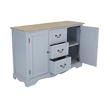 Charles Bentley große Loxley Holz zwei Ton Sideboard Schrank Tisch mit Metall Griffe grau