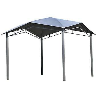 Outsunny 3x3(m) Outdoor Patio Gazebo Pavilion Canopy Tent Sunshade Steel Frame Grey