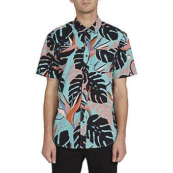 Volcom Mentawais Short Sleeve Shirt in Mysto Green