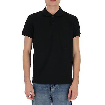 Saint Laurent 554052yb2oc1000 Men's Black Cotton Polo Shirt