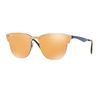 Ray Ban solglasögon Rb3576n 90377j 47 Blaze Clubmaster Dark Orange speglade solglasögon