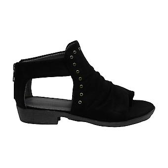 Baretraps Womens Sarena Faux Suede Thong Wedge Sandals