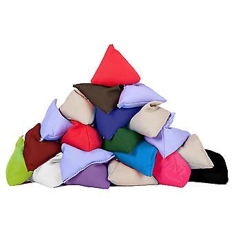 Gardenista | Packung mit 20 | Langlebige Baumwollstoff | Dreieckig geformt | Jonglieren werfen Bean Taschen | Garten Spiele | PE und Sport | Drinnen und draußen | Assorted