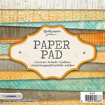 Studio Light Paper pad 36 sheets 12 designs nr 79 PPSL79 15x15cm