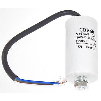 Universal 9UF Capacitor with 19cm Cable Connectors