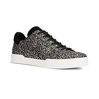 Kenneth Cole New York Tyler Leather Sneaker, 6.5 Black Multi