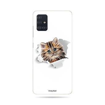 Hull For Samsung Galaxy A51 Flexible Cat Too Cute
