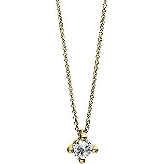 Diamond Collier Necklace - 18K 750/- Yellow Gold - 0.15 ct. - 4D270G8-1