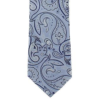 Michelsons of London Springtime Paisley Polyester Tie - Blue