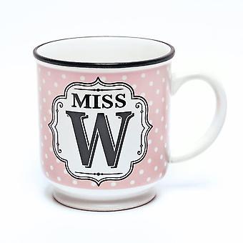 Histoire et Heraldry Alphabet Mug - Miss W