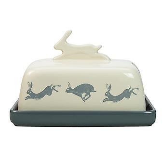 English Tableware Co. Artisan Butter Dish, Hare