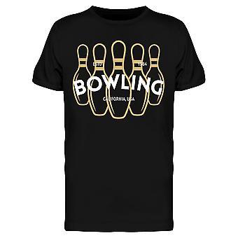 Bowling Golden Pins Design Tee Men's -Bild von Shutterstock
