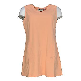Linea por Louis Dell'Olio Women's Top Knit V-Neck Tunic Tank Orange A290991