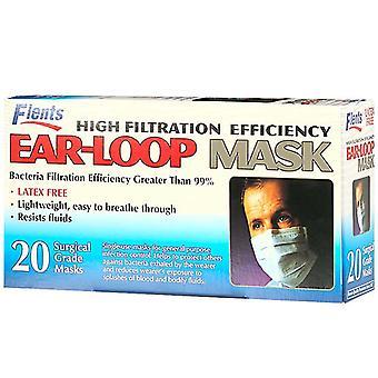 Flents korkea suodatuksen tehokkuutta, korva kiehkura naamio, 20 ea