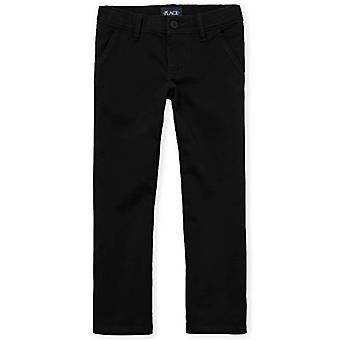 The Children's Place Big Girls' Uniform Pants, Black 43302, 8