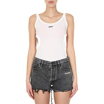 Off-white Owad107s20fab0010110 Women's White Viscose Top