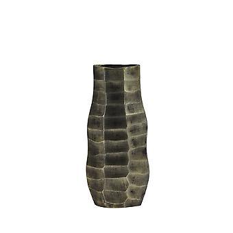 Ljus och levande vas 15x8.5x33cm Muka antik brons