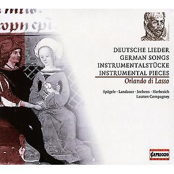 O. Lasso - Orlando Di Lasso: Deutsche Lieder; Instrumentalst Cke [CD] USA import