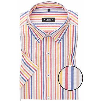 Eterna Mode Eterna Seersucker Stripe Short Sleeve Shirt