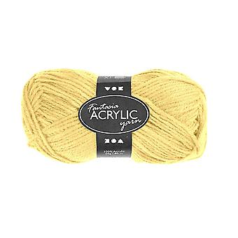 50g 3-Ply Light Yellow Acrylic Yarn for Kids Knitting and Sewing Crafts